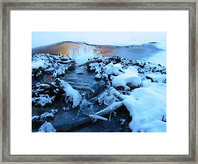 Snowy Reflections Framed Print by Angela Murray