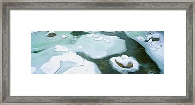 Snowy River In New Hampshire Framed Print