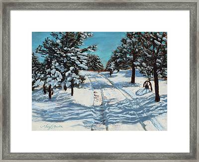 Snowy Road Home Framed Print