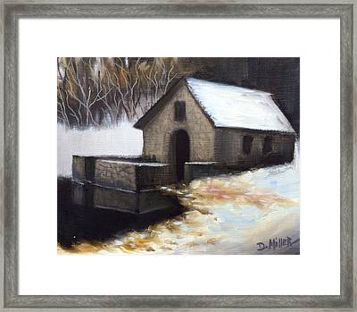 Fallen Snow Framed Print by Dustin Miller