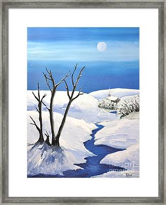 Snowy Scene Framed Print by Reb Frost