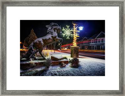 Framed Print featuring the photograph Snowy Sisters by Cat Connor
