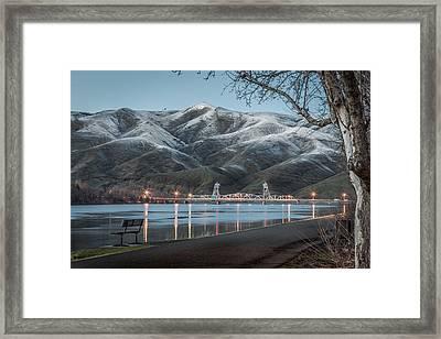 Snowy Star Framed Print