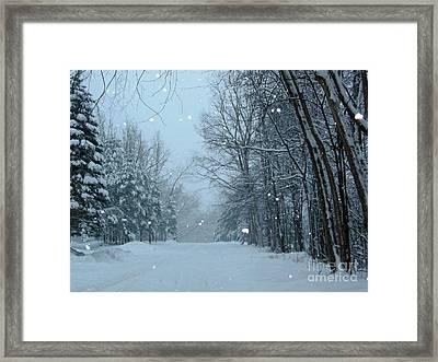 Snowy Street Framed Print