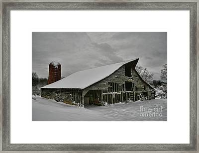 Snowy Thunder Framed Print