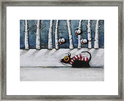 Snowy Walk Framed Print