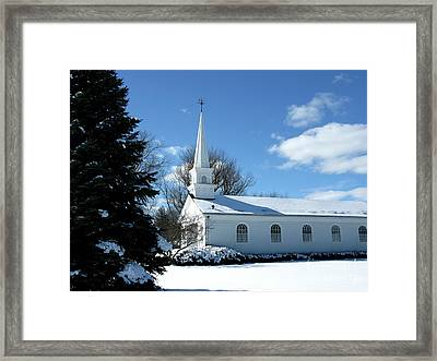 Snowy White Framed Print by Ann Horn