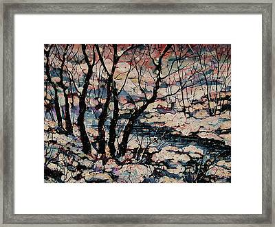 Snowy Woods Framed Print by Natalie Holland