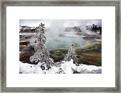 Snowy Yellowstone Framed Print