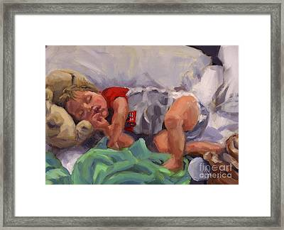 Snug As A Bug Framed Print
