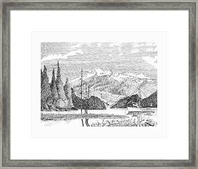 Alaskan Snug Harbor Anchorage Framed Print