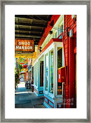 Snug Harbor Jazz Bistro- Nola Framed Print