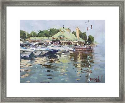 Snug Harbour Mississauga On Framed Print
