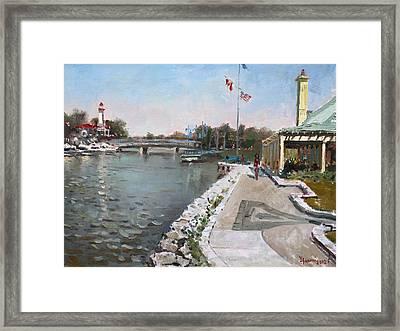 Snug Harbour Restaurant Framed Print