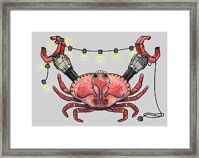 So Crabby Chic Framed Print by Kelly Jade King