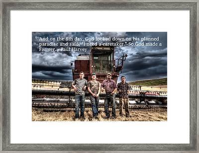 So God Made A Farmer Framed Print by Mark Kiver