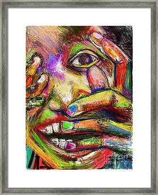 So Happy And Fingers Framed Print