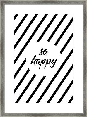 So Happy - Cross-striped Framed Print