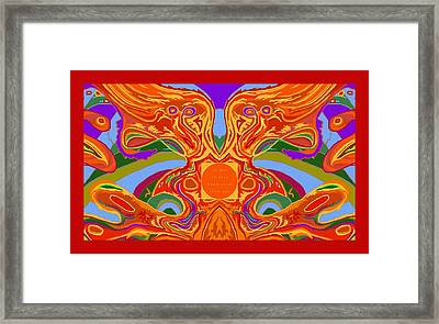 Framed Print featuring the digital art So Hot It Will Burn Your Face Off Art And Text by Julia Woodman