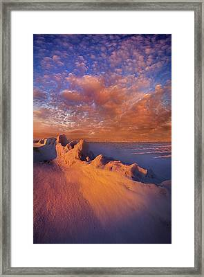 Framed Print featuring the photograph So It Begins by Phil Koch