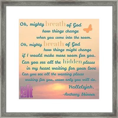 So Jesus Said To Them Again, peace Be Framed Print