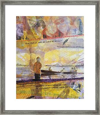 So Late, So Soon Framed Print by Margaret Anderson