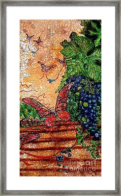 So Long And Thanks For All The Grapes Framed Print by Ron Carter