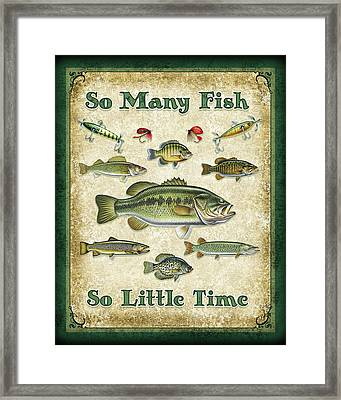 So Many Fish Sign Framed Print