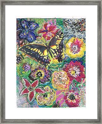 So Many Flowers So Little Time Framed Print by Anne-Elizabeth Whiteway