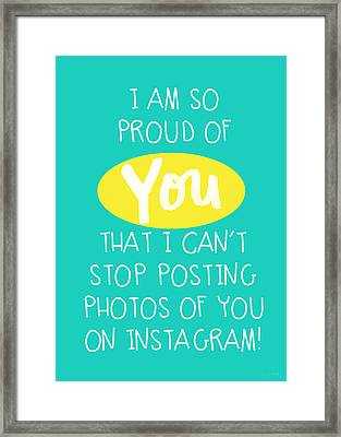 So Proud Of You- Blue Framed Print