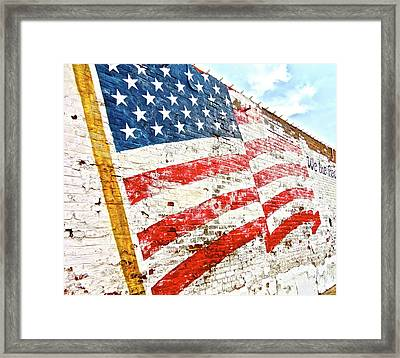 So She Waves Framed Print by Chuck Taylor