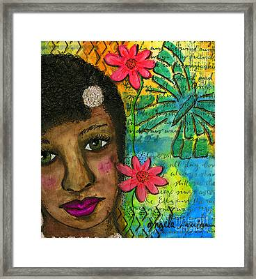 So Sweet Framed Print by Angela L Walker