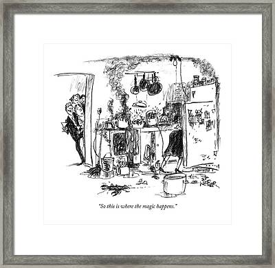 So This Is Where The Magic Happens Framed Print