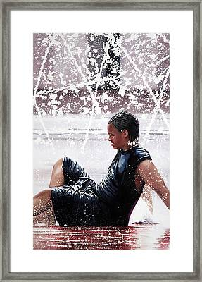 Soaked Framed Print by Denny Bond
