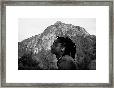 Soaking Up The Good Vibes Framed Print by Bruce J Robinson