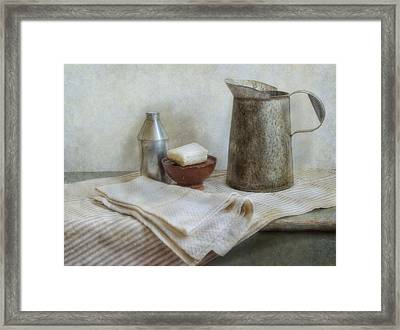 Soap And Water Framed Print