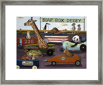 Soap Box Derby Framed Print by Leah Saulnier The Painting Maniac