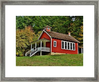 Soap Creek Schoolhouse Framed Print