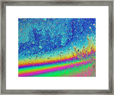 Framed Print featuring the photograph Soap Night Sky In Soap by Jean Noren