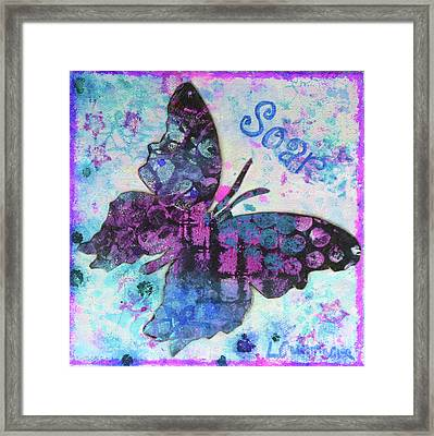 Soar Butterfly Framed Print