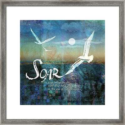 Soar Framed Print by Evie Cook