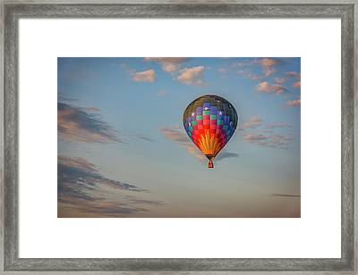Framed Print featuring the photograph Soaring At Sunrise by Rick Berk