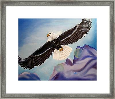 Soaring Eagle Framed Print by Kathern Welsh