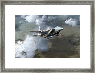 Soaring Eagle Framed Print by Peter Chilelli