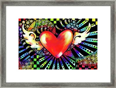 Soaring Heart Coloration Framed Print