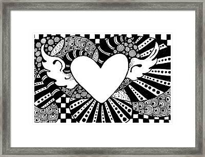 Soaring Heart  Framed Print by Nada Meeks