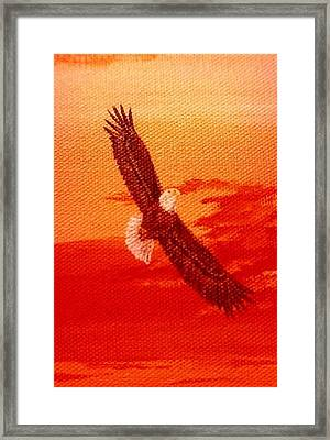 Framed Print featuring the painting Soaring by Katherine Young-Beck