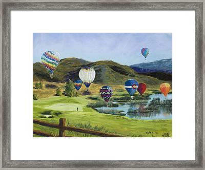Soaring Over Colorado Framed Print