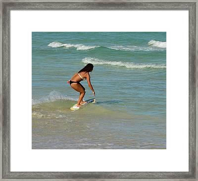 Sobe Skim Boarder Framed Print by Richard Pross
