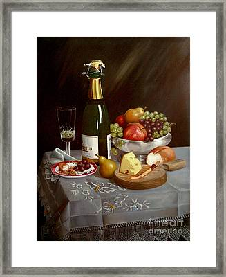 Sobremesa After Food Framed Print by Mai Griffin